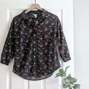 floral gray fall button down by dockers